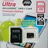 MicroSD Sandisk Ultra 200GB 90MB/s (600X)(SIS/Synnex)