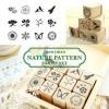 ตัวปั๊มไม้ Funny Man Nature Pattern Stamp