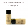 พร้อมส่ง Nars Sheer Glow Foundation # Fiji (Light5) ขนาดขายทดลอง 4 ml. สำหรับผิวขาวกลาง undertone เหลือง