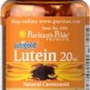 Puritan's Pride - Lutein 20 mg with Zeaxanthin 60 softgels