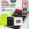 Sandisk MicroSD Ultra 16GB 98MB/s ประกันศูนย์ 10ปี