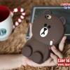 เคส iPhone 5/5s - หมี Brown Line
