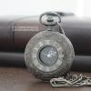 นาฬิกาพก สีดำลายโรมันเถาวัลย์แบบควอทซ์ หน้าปัดเลขโรมัน