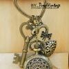 นาฬิกาพวงกุญแจวินเทจสีทองเหลือง ดีไซต์ Beauty Sword