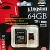 Kingston MicroSD 64GB 4K(Read 90MB/s, Write 80MB/s)(Synnex/ABT)