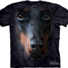 The Mountain Big Face Doberman Dog T-Shirts