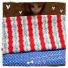 FAB58Pack19 : ผ้าจัดเซต 2 ชิ้น ผ้าอเมริกา +ผ้าหาได้ในตลาดไทย ขนาดผ้าแต่ละชิ้น 25-27 X 45-50cm