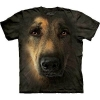 Big Face German Shepherd Portrait Dog T-Shirts