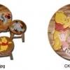 ลาย Pooh CK00A โต๊ะ ขนาด 18*20 นิ้ว จำนวน 1 ตัว เก้าอี้ ขนาด 10*10 นิ้ว จำนวน 4 ตัว ผลิตจากไม้จามจุรีแท้ ไม่ใช่ไม้อัด รับน้ำหนักได้ถึง 70 กก.