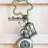 พวงกุญแจพร้อมตัวห้อยนาฬิกา ม้าหมุนแห่งเจ้าหญิง Princess Carousel (พร้อมส่ง)