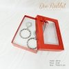 กล่องของขวัญแบบฝาครอบเจาะหน้าต่าง สีแดง