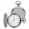 **พรีออร์เดอร์**นาฬิกาพกควอทซ์สีเงินฝาเรียบหน้า-หลัง แบรนด์ Royal London