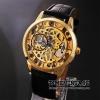 นาฬิกาข้อมือกลไก Golden Gear สายหนังสีดำ (พร้อมส่ง)