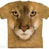 เสื้อยืด3Dสุดแนว(MOUNTAIN LION FACE T-SHIRT)
