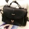 (พร้อมส่ง)กระเป๋าหนัง ทรงเรียบๆ สีดำ แบรนด์ Axixi ของแท้ 100%
