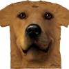 Big Face Golden Labrador T-Shirts Golden Face