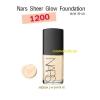 Nars Sheer Glow Foundation # SANTA FE (medium 2) ขนาดขายจริง 30 มล. พร้อมกล่อง เคาเตอร์ไทย