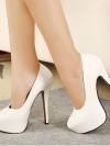 พรีออเดอร์ รองเท้าส้นสูง/คัทชู สีขาว มีไซด์ 35-39