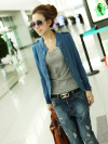 พรีออเดอร์ เสื้อคลุม สีน้ำเงิน มีไซด์ M/L/XL