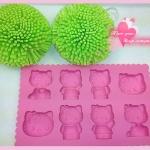 [Preorder] ที่ทำน้ำแข็ง Hello Kitty ทั้งครอบครัวสีชมพู Family Ice Box ice lattice ice mold ice pack (2 อัน/แพ็ค)