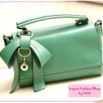 [Preorder] กระเป๋าแฟชั่นเก๋ๆ ประดับโบว์น่ารักสีเขียวเข้ม 2012 summer new Korean bow bags handbags handbags Messenger handbags