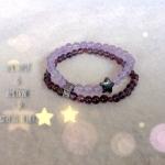 Amethyst and Ametrine double bracelet
