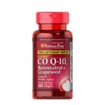 Puritan's Pride Q-SORB™ Co Q-10, Resveratrol & Grapeseed / 60 Rapid Release Softgels
