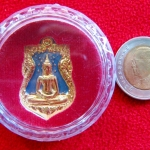 เหรียญเสมาหลวงพ่อโสธร รุ่นอัญเชิญขึ้นจากน้ำ รุ่น2 ปี2555 เนื้อทองแดงชุบทองลงยาสีฟ้า พร้อมตลับเดิมค่ะ