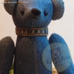 ตุ๊กตาหมีผ้ายีนส์ ขนาด 26 ซม. - BECK