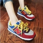 [Preorder] รองเท้าผ้าใบ N สีแดงเทา Korean wild shoes running shoes breathable couple N Aberdeen male Korean fashion sneakers shoes singles shoes N word