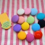 กระดุมปั๊ม handmade ขนาด 2 cm- ผ้าพื้นโซล่อน (1 แพคบรรจุ 1/2 โหล)เลือกสีค่ะ
