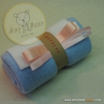 เซตผ้าขนเนื้อนิ่มสำหรับเย็บตุ๊กตาหมี - สีฟ้า