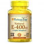 Puritan's Pride Vitamin E-400 iu 100% Natural / 250 Softgels