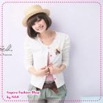 [Preorder] คาร์ดิแกนแฟชั่น (เสื้อคลุมแขนยาว) ประดับโบว์สีขาว spring new special attached butterfly knot pin princess sleeve short jacket