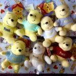 พร้อมส่งจ้า พวงกุญแจตุ๊กตา Colorful Pooh ลิขสิทธิ์ Disney Hong kong ไว้แจกปีใหม่ค่ะ