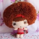 ตุ๊กตาหัวหยิก ตุ๊กตาตัวเล็ก ขนาด 20 CM ลาย ตากลม