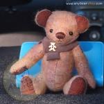 ตุ๊กตาหมีผ้าวูลสีน้ำตาลขนาด 21 cm. - Holly
