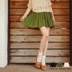 ♥♥ สีเขียวพร้อมส่ง ♥♥ กระโปรงสั้อัดจีบรอบตัว ผ้าชีฟองเนื้อดีพรื้วสวย ใส่สบาย ช่วงเอวยางยืดน่ารักๆ ค่ะ