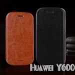 เคสหนังฝาพับ Huawei Y600 ยี่ห้อ MOFi Leather Slim