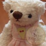 ตุ๊กตาหมีผ้าขนแกะสีขาวขนาด 12 cm. - Bess
