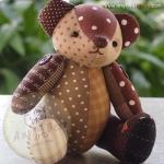 ตุ๊กตาหมีผ้าฝ้ายลายจุดคละ 18 cm. - Roll