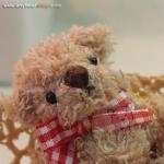 ตุ๊กตาหมีผ้าขนสีน้ำตาล ขนาด 8 cm. - Getty