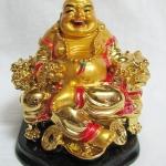 พระบูชาพระสังกัจจายน์ พระแห่งโชคลาภ องค์สีทองนั่งเก้าอี้ แก้ชงปี2561ค่ะ