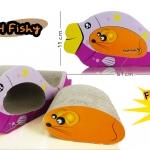 กระดาษลูกฟูกลับเล็บแมว รุ่น Fishy
