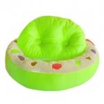ที่นอนสุนัข ที่นอนแมว ทรงโดนัส สีสันสวยงาม ขนาดเล็ก สีเขียว ฟรี EMS