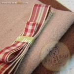 เซตผ้าขูดขนสำหรับเย็บตุ๊กตาหมี 2 ตัว - โทนสีน้ำตาลเข้ม