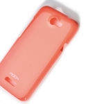 Case HTC One x Rock Color- ful - สีส้ม