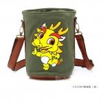 [Preorder] กระเป๋าสะพายข้างลายสัตว์ประจำปีนักษัตร ลายงูใหญ่ (ปีมะโรง) North bag 2013 Korean version of the original cartoon Zodiac constellation pattern leisure Shoulder Messenger bag