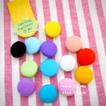 กระดุมปั๊ม handmade ขนาด 1.5cm- ผ้าพื้นโซล่อน (1 แพคบรรจุ 1/2 โหล)เลือกสีค่ะ