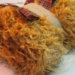 เซตผ้าขนยุ่งสำหรับเย็บตุ๊กตาหมี - โทนสีน้ำตาลทอง